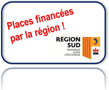 Places financées par la région