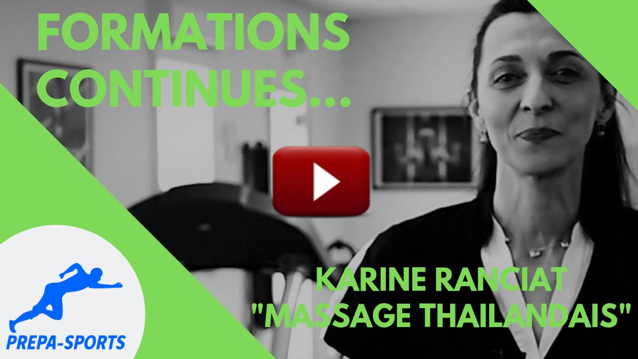 Massage thaïlandais - PREPA-SPORTS