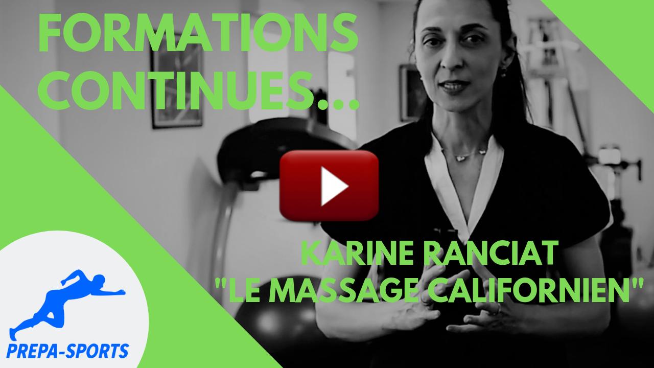 Le massage californien - PREPA-SPORTS